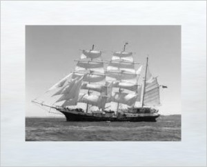 Van Diemen's Land bound sailing ship